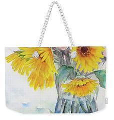 Sunflower-4 Weekender Tote Bag