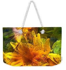 Sunflower 6 Weekender Tote Bag by Pamela Cooper