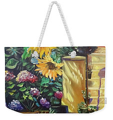 Sunflower Aloha Weekender Tote Bag