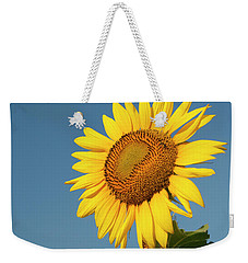Sunflower And Blue Sky Weekender Tote Bag