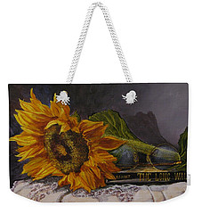Sunflower And Book Weekender Tote Bag