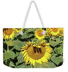 Sunflower Bangs Weekender Tote Bag