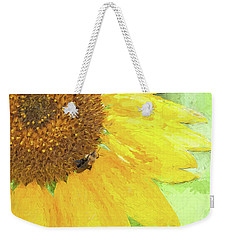 Sunflower Bee Art Weekender Tote Bag
