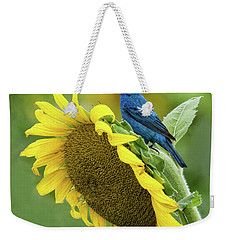 Sunflower Blue Weekender Tote Bag
