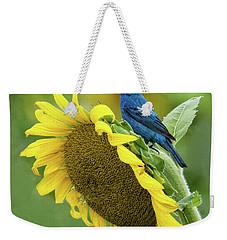 Sunflower Blue Weekender Tote Bag
