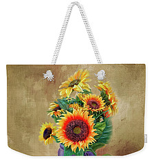 Sunflower Bouqet Weekender Tote Bag by Mary Timman