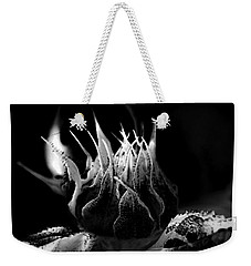 Sunflower Bud Abstract Weekender Tote Bag
