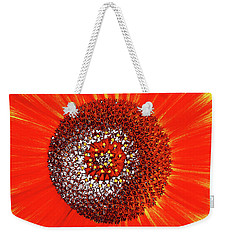 Weekender Tote Bag featuring the photograph Sunflower Close by Roger Bester