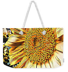 Weekender Tote Bag featuring the photograph Sunflower In The Alley by Diane Miller
