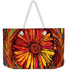 Sunflower Emblem Weekender Tote Bag by Rabi Khan