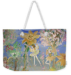 Sunflower Fairies Weekender Tote Bag by Judith Desrosiers