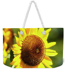Weekender Tote Bag featuring the photograph Sunflower Field by Christina Rollo