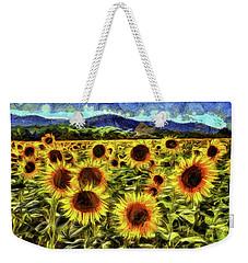 Sunflower Field Van Gogh Weekender Tote Bag