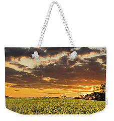 Sunflower Fields Sunset Weekender Tote Bag