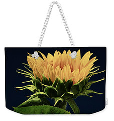 Weekender Tote Bag featuring the photograph Sunflower Foliage And Petals by Chris Berry