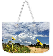 Sunflower Hitchhikers Weekender Tote Bag