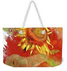 Sunflower In Red Weekender Tote Bag