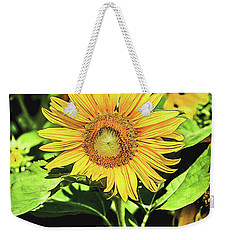 Weekender Tote Bag featuring the photograph Sunflower by Jessica Manelis