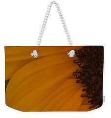 Sunflower Macro Weekender Tote Bag by Nance Larson