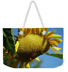 Sunflower, Mammoth With Bees Weekender Tote Bag