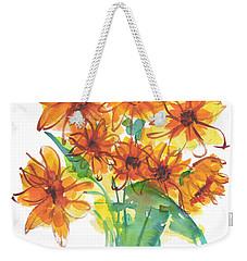 Sunflower Medley II Watercolor Painting By Kmcelwaine Weekender Tote Bag