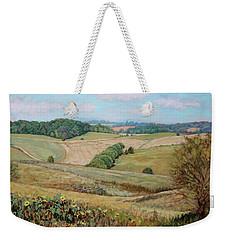 Sunflower Morning - Sunflower Farm In Botetourt Virginia Weekender Tote Bag