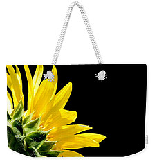 Sunflower On Black Weekender Tote Bag
