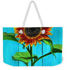 Sunflower On Blue Weekender Tote Bag