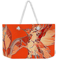 Sunflower - Orange Deco Burst Weekender Tote Bag