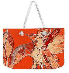 Sunflower - Orange Deco Burst Weekender Tote Bag