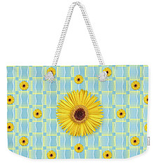 Sunflower Pattern Weekender Tote Bag