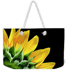 Weekender Tote Bag featuring the photograph Sunflower Petals by Christina Rollo