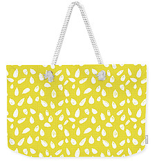 Weekender Tote Bag featuring the mixed media Sunflower Seeds- Art By Linda Woods by Linda Woods