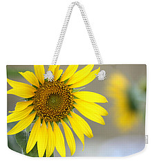 Weekender Tote Bag featuring the photograph Sunflower by Sheila Brown