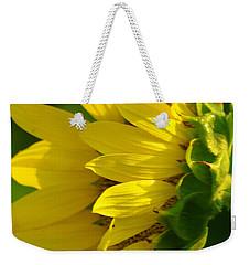 Sunflower Side Weekender Tote Bag
