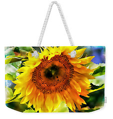Weekender Tote Bag featuring the photograph Sunflower Splendor by Barbara Chichester