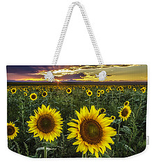 Sunflower Sunset Weekender Tote Bag