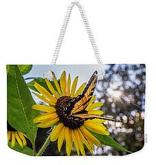 Sunflower Swallowtail Weekender Tote Bag