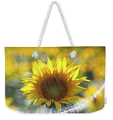 Sunflower With Lens Flare Weekender Tote Bag