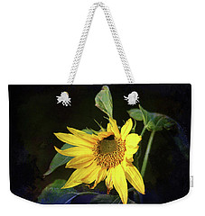 Weekender Tote Bag featuring the photograph Sunflower With Texture by Trina Ansel