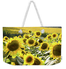Weekender Tote Bag featuring the photograph Sunflowers 13 by Andrea Anderegg