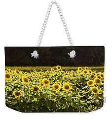 Weekender Tote Bag featuring the photograph  Sunflowers 5 by Andrea Anderegg