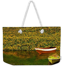 Sunflowers And Boats Weekender Tote Bag
