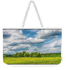 Sunflowers And Clouds Weekender Tote Bag