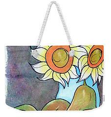 Sunflowers And Pears Weekender Tote Bag by Loretta Nash