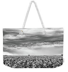 Sunflowers And Rain Showers Weekender Tote Bag by Penny Meyers
