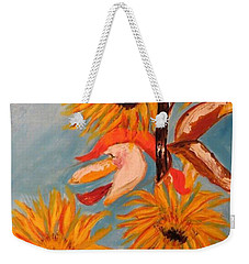 Sunflowers At Harvest Weekender Tote Bag