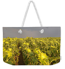Sunflowers Before The Storm Weekender Tote Bag