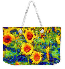 Sunflowers Dance In A Field Weekender Tote Bag