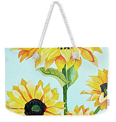 Sunflowers  Weekender Tote Bag by Donna Blossom